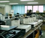 影格科技数字喷墨平板打印机生产车间一角