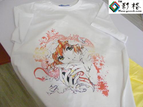 影格科技T恤数码喷墨印花现场打印演示0571-8755-6465