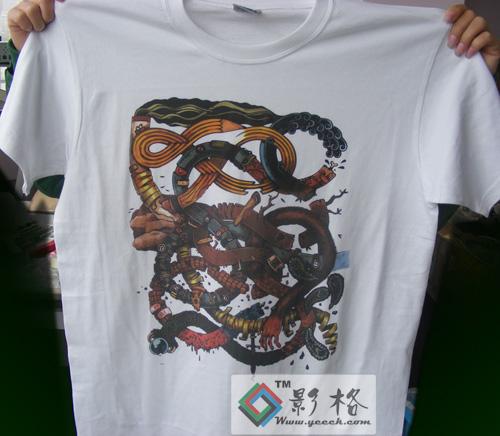 影格科技T恤印花现场打印演示0571-8755-6465