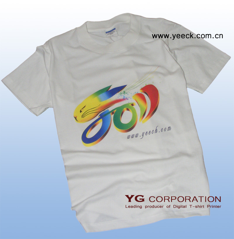 YG Garment printer dample printed by YTJ330