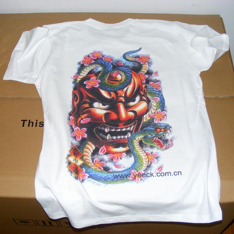 上海数码印花机厂家T恤印花打样机打印实拍效果图(实物更漂亮哦)